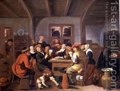 A Happy Party by Jan or Johannes Hals - Reproduction Oil Painting