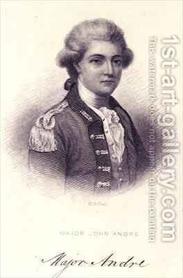 Major John Andre 1751-80 by Henry Bryan I Hall - Reproduction Oil Painting