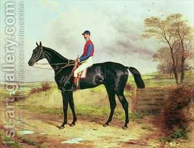 Earl Pouletts The Lamb  Winner of the Grand National with Mr George Ede by Harry Hall - Reproduction Oil Painting