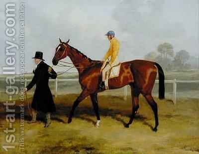 Sir Tatton Sykes 1772-1863 Leading in the Horse Sir Tatton Sykes by Harry Hall - Reproduction Oil Painting