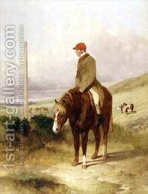 Nat Flatman 1810-60 on his Pony Before the Start of the 1844 Chesterfield Stakes by Harry Hall - Reproduction Oil Painting