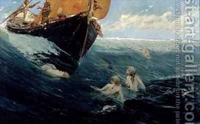 The Mermaids Rock by Edward Matthew Hale - Reproduction Oil Painting