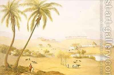 Haughton Court Hanover Jamaica by James Hakewill - Reproduction Oil Painting