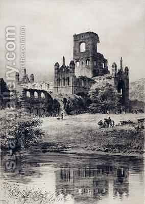 Kirkstall Abbey from the South East by Axel Haig - Reproduction Oil Painting