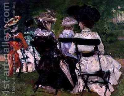In the Park by J. Edward Homerville Hague - Reproduction Oil Painting
