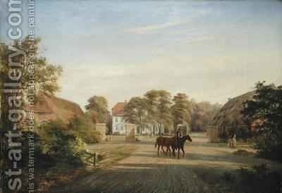 Gut Grabau near Oldesloe by Johann Georg Haeselich - Reproduction Oil Painting