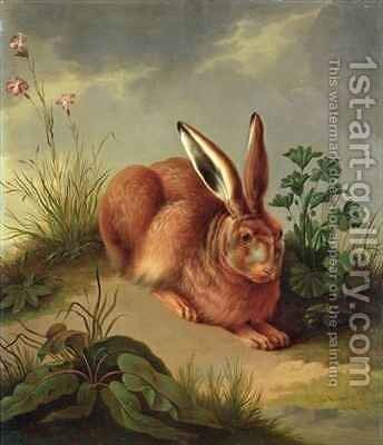 Hare by Johann Gottlieb Hackert - Reproduction Oil Painting