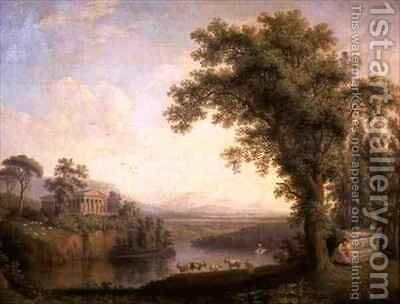 Antique Landscape with Phaetons Tomb by Jakob Philippe Hackert - Reproduction Oil Painting