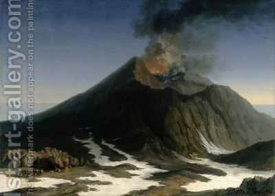 The Eruption of Etna by Jakob Philippe Hackert - Reproduction Oil Painting