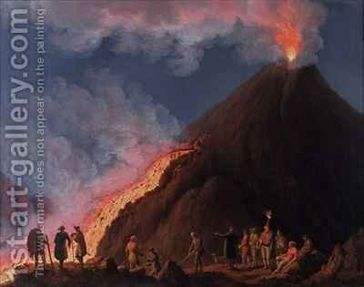 The Eruption of Mount Vesuvius in 1774 by Jakob Philippe Hackert - Reproduction Oil Painting