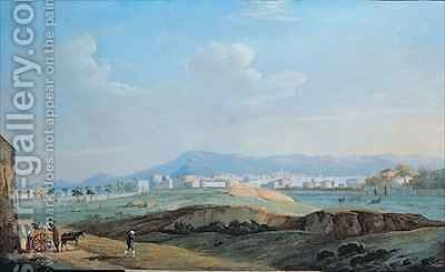 View of the City of Palermo from the piano della Consolazione by Jakob Philippe Hackert - Reproduction Oil Painting