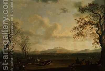 Ferdinand I 1751-1825 Hunting Boar at Carditello by Jakob Philippe Hackert - Reproduction Oil Painting