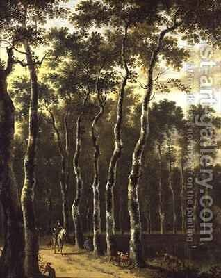 An Avenue in a Wood by Jan Hackaert - Reproduction Oil Painting