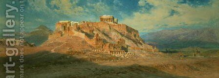 The Acropolis by Carl Haag - Reproduction Oil Painting