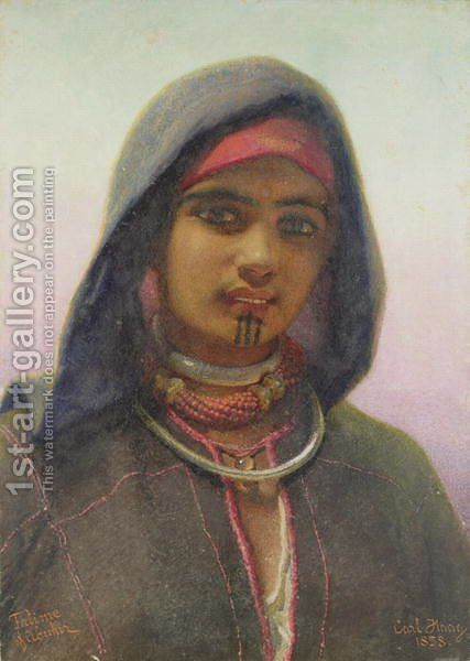 Fatime of Abukir by Carl Haag - Reproduction Oil Painting