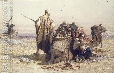 Danger in the Desert 2 by Carl Haag - Reproduction Oil Painting