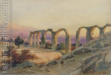 The Aqueduct of Salona Dalmatia by Carl Haag - Reproduction Oil Painting