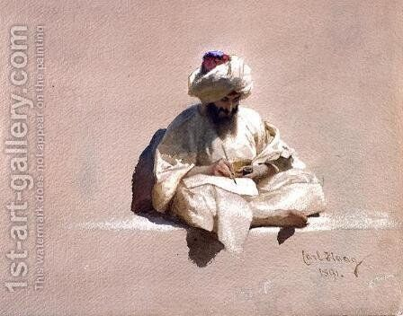 The Letter Writer by Carl Haag - Reproduction Oil Painting
