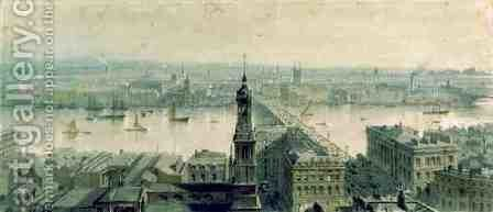 View of London from Monument looking South by Carl Haag - Reproduction Oil Painting