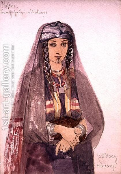 Hassin the Wife of a Syrian Bedawee by Carl Haag - Reproduction Oil Painting