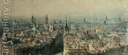 View of London from Monument looking North by Carl Haag - Reproduction Oil Painting