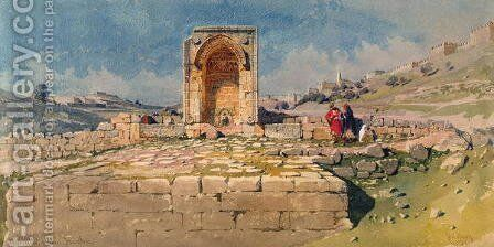 The Valley and lower Pool of Gihon Jerusalem by Carl Haag - Reproduction Oil Painting
