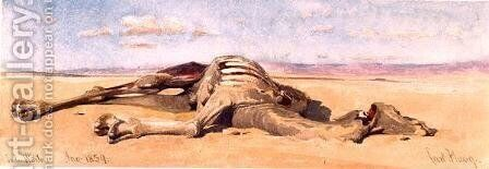 A Dead Camel by Carl Haag - Reproduction Oil Painting