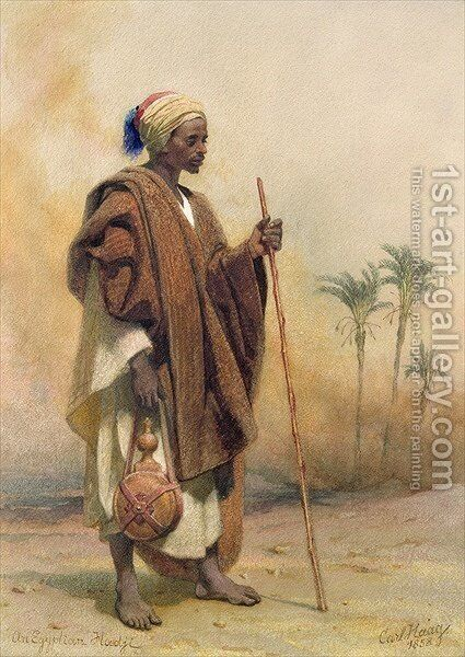 An Egyptian Haji by Carl Haag - Reproduction Oil Painting