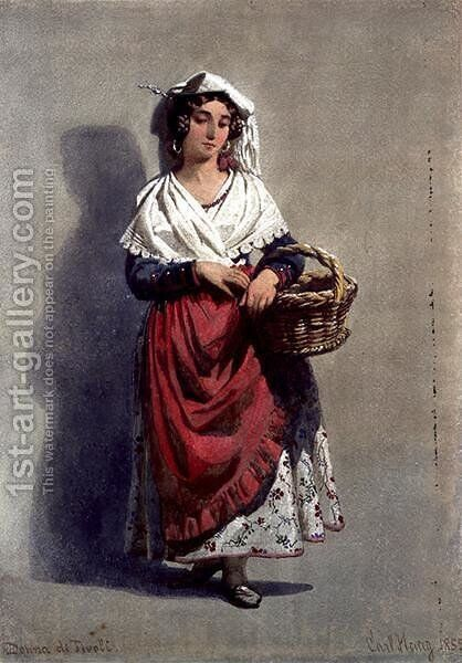 Donna di Tivoli by Carl Haag - Reproduction Oil Painting