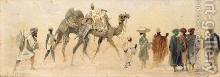 A Start for the Desert by Carl Haag - Reproduction Oil Painting