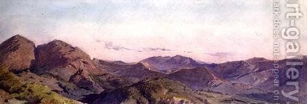 On the Sabine Hills by Carl Haag - Reproduction Oil Painting