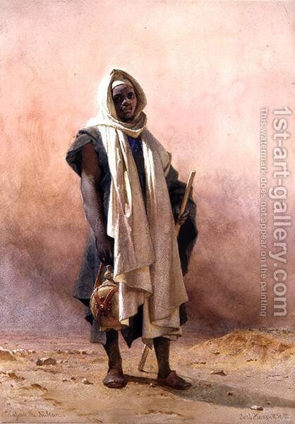 Nassan the Nubian by Carl Haag - Reproduction Oil Painting