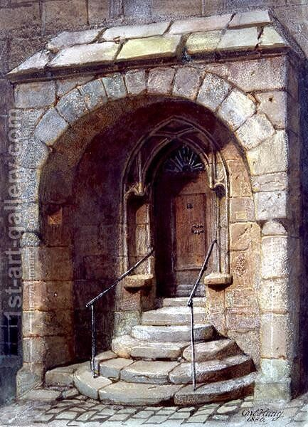 The Office Entrance by Carl Haag - Reproduction Oil Painting