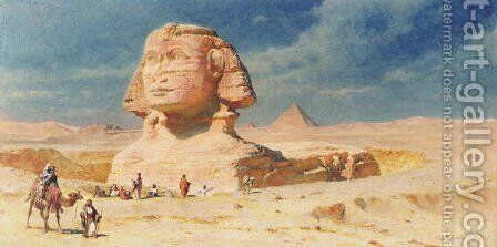 The Sphynx of Giza by Carl Haag - Reproduction Oil Painting