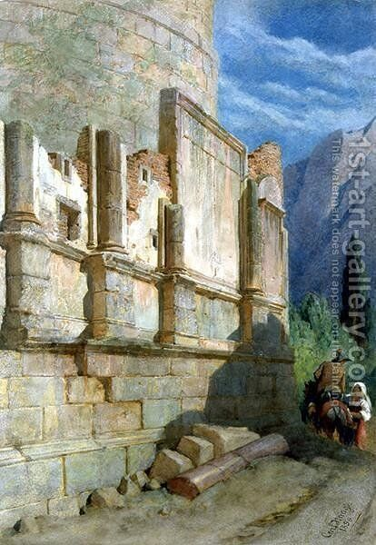 On the way to Tivoli by Carl Haag - Reproduction Oil Painting