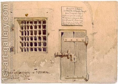 Jassos Prison in Ferrara by Carl Haag - Reproduction Oil Painting