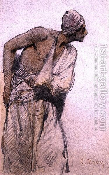 An Arab Peasant by Carl Haag - Reproduction Oil Painting