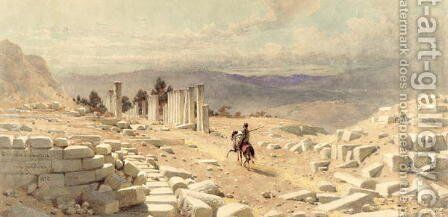 The Entrance of Ancient Samaria by Carl Haag - Reproduction Oil Painting