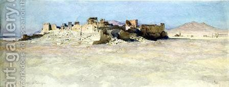 South East Corner of the Temple of the Sun Palmyra by Carl Haag - Reproduction Oil Painting