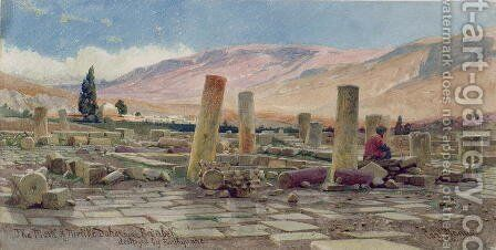 The Mosque of Melike near Baalbek destroyed by an Earthquake by Carl Haag - Reproduction Oil Painting