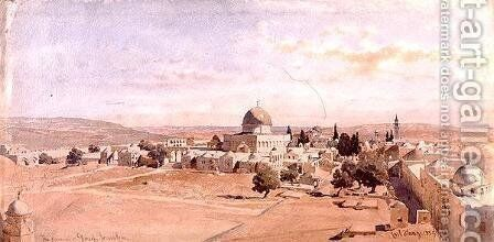 The Haraam es Shereef Jerusalem by Carl Haag - Reproduction Oil Painting