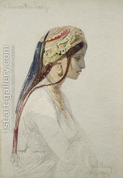 A Samaritan Lady by Carl Haag - Reproduction Oil Painting