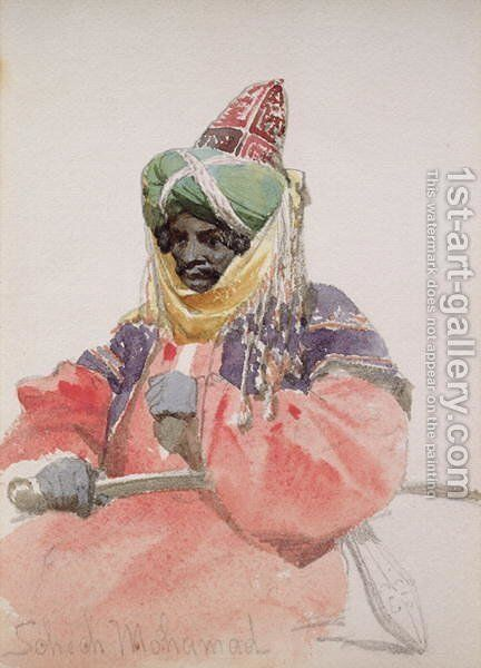 Portrait of an Arab by Carl Haag - Reproduction Oil Painting
