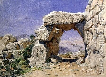 Porta Saracinesa a Signe by Carl Haag - Reproduction Oil Painting