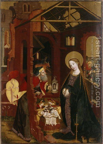 The Nativity by (attr. to) Gutrecht, Matthaus, the Elder - Reproduction Oil Painting