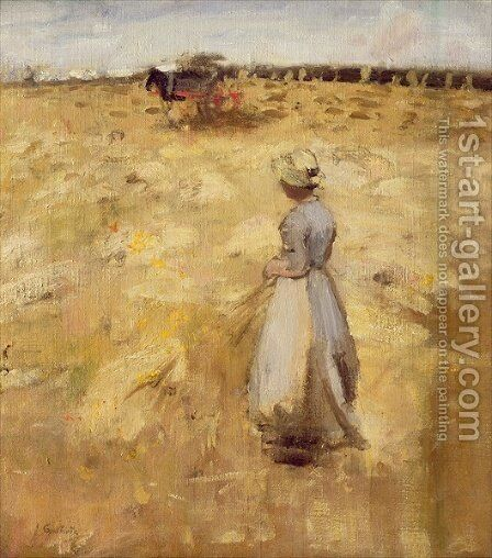 Field Workers in the Lothian by Sir James Guthrie - Reproduction Oil Painting