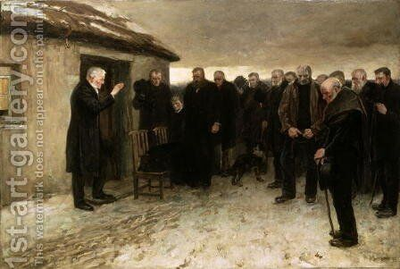 A Highland Funeral by Sir James Guthrie - Reproduction Oil Painting