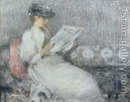 The Morning Paper by Sir James Guthrie - Reproduction Oil Painting