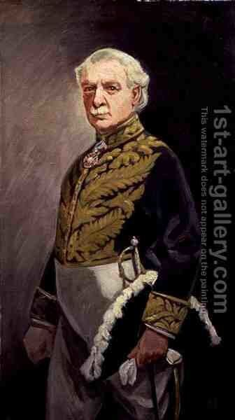 Portrait of David Lloyd George 1863-1945 by Sir James Guthrie - Reproduction Oil Painting