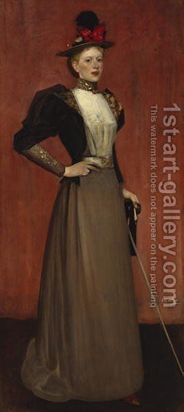 Maggie Hamilton Mrs AN Paterson by Sir James Guthrie - Reproduction Oil Painting